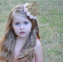 Baby Crown Headband Princess Flower Crown Newborn Headband 1st Birthday Crow