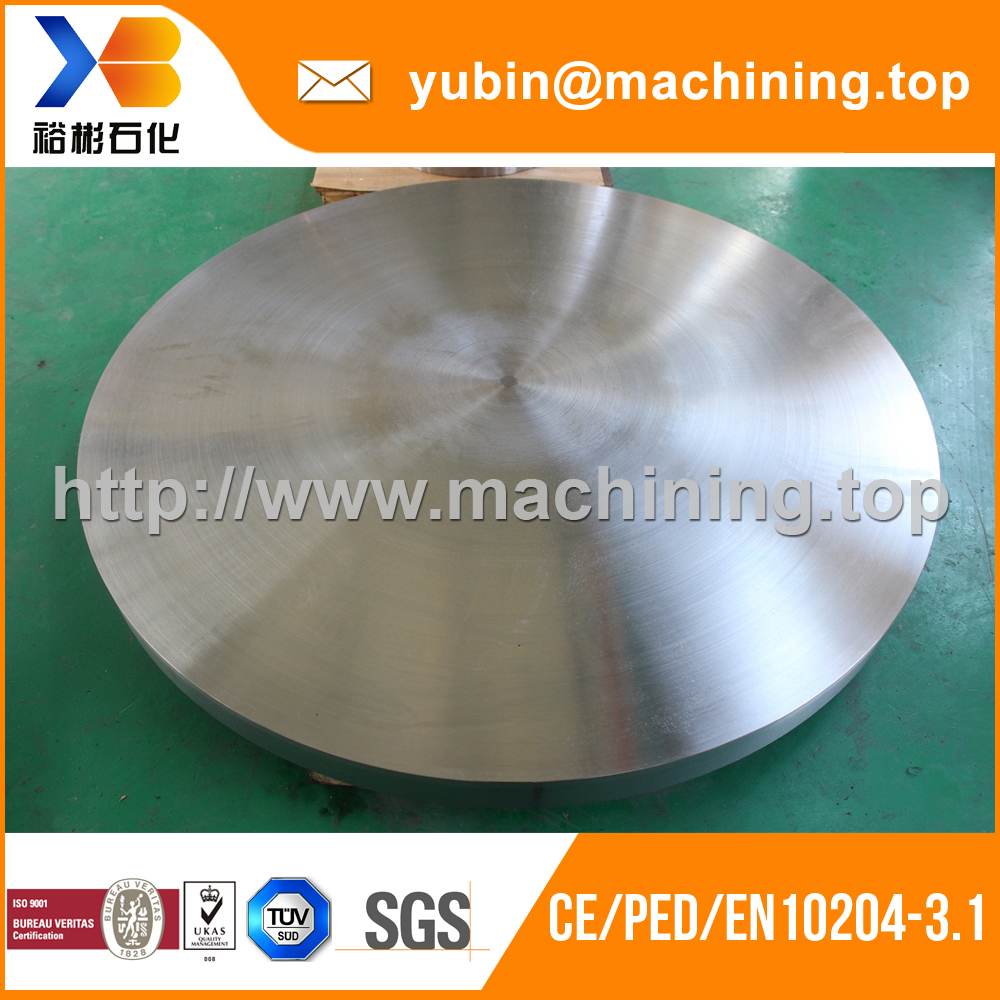 Customized SA516 Gr. 70N steel forged disk with CE/PED/EN10204 3.1 certificate