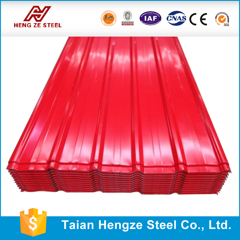 sales 2016 color coating steel zinc roof sheet price / corrugated steel roof panel / metal roof tile from china supplier