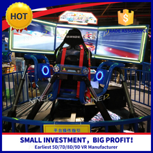Real Feeling Great Fun 3d car driving simulator 360 degree rotation racing car cinema game racing machine car simulator