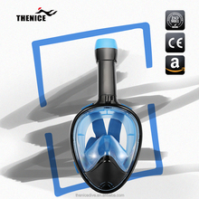 TheNice Kuyou factory most popular 180 degree full face scuba dive/snorkel mask