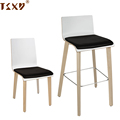 High-stool plywood back wooden bar chair