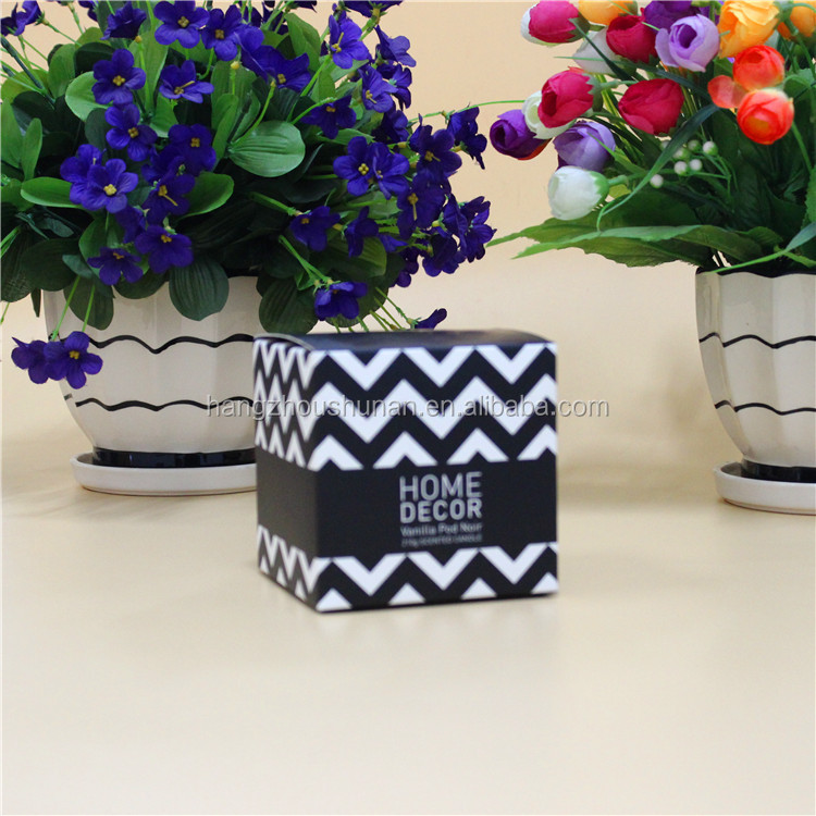 Home decor brand scented ceramic cup candle in color box