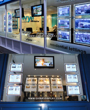 Best selling advertising window display edge lit A4 hanging led ceiling light box frame