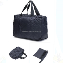 Factory supply portable nylon folding collapsible travel bag