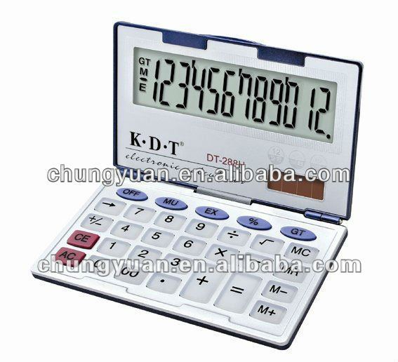 12 digits thin business card calculator DT-288H