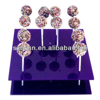 Acrylic Lolli Pop Display, Perspex Lolli Pop Stand, Plexiglass Cake Pop Display Stand
