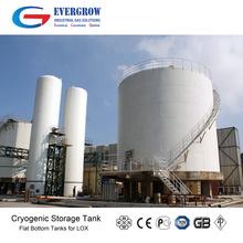 Large Scale Liquid Oxygen Nitrogen Flat Bottom Crygenic Tank