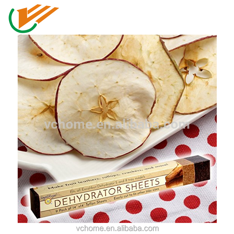 FDA free reusable heat resistance dehytrator sheets for fruits and vegetables industry
