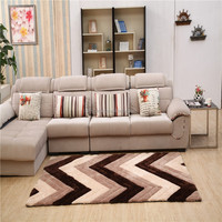 Super soft Shaggy 3D latex backing washable shaggy rug with high quality pile