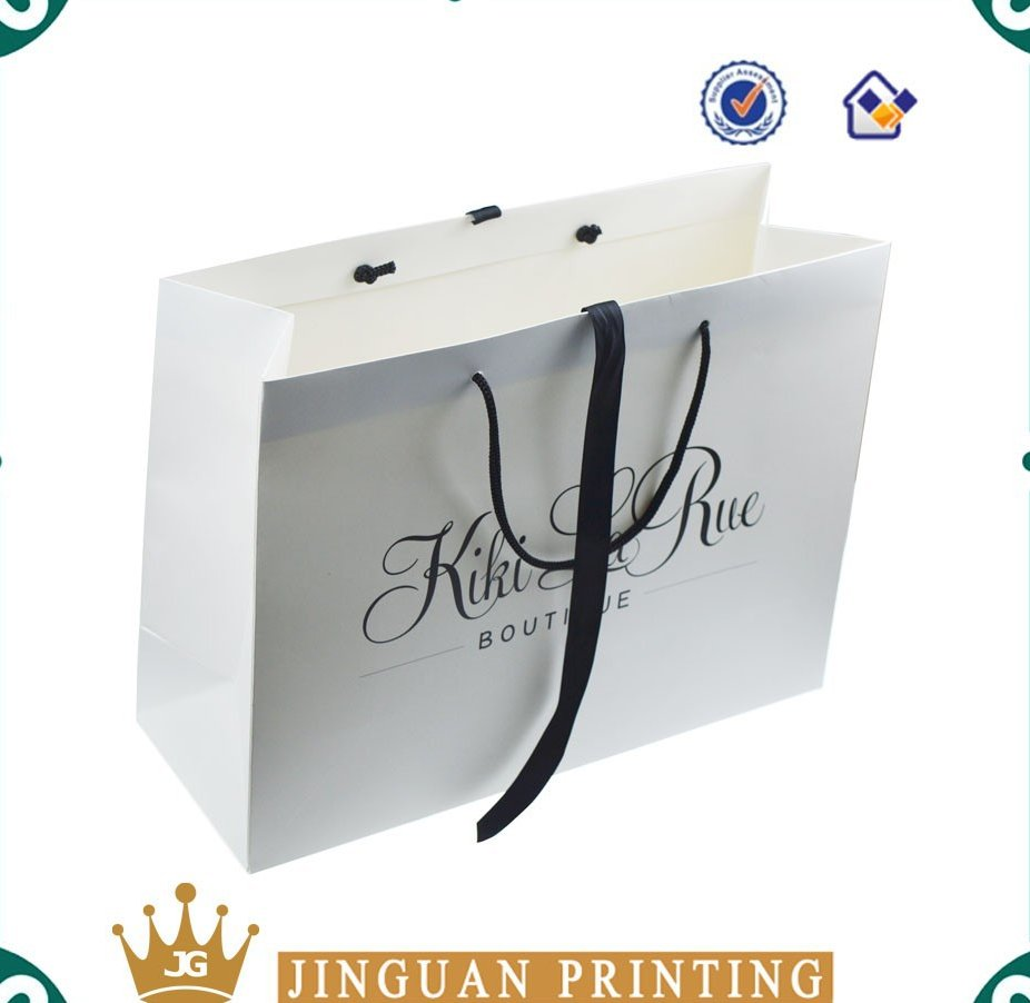 Promotional custom logo printed cheap gift shopping paper bag