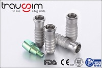 CE and FDA Proved Titanium Dental Implants with Straight Abutments, Healing caps and Internal Hex