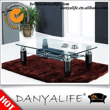 DYG220 Danyalife 2015 New Cheap Tempered Glass Coffee Table