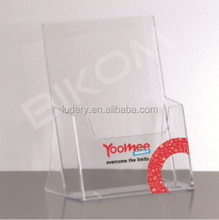 factory supply cheap clear wall mount or table top acrylic a4 paper sheet brochure holder