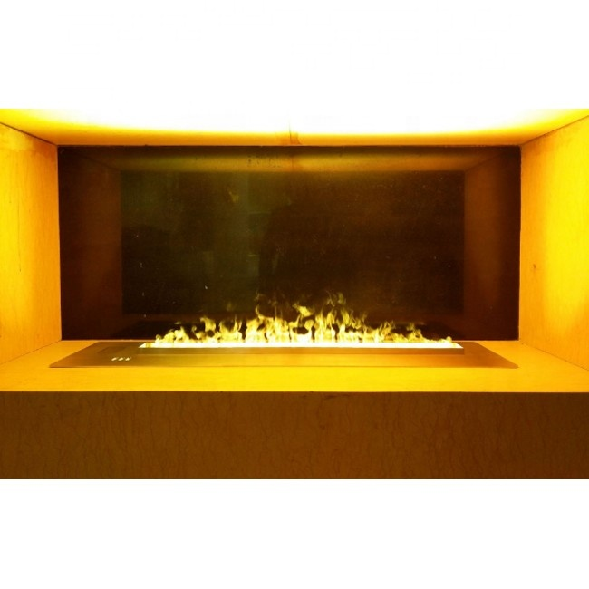 1200mm long high quality LED light electric fireplace water vapor fireplace with colors changed flame
