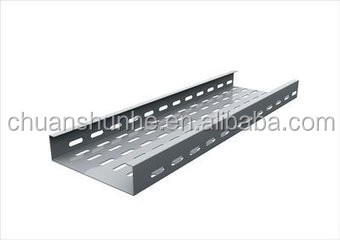 Peforted solid pregalvanized ladder type cable tray