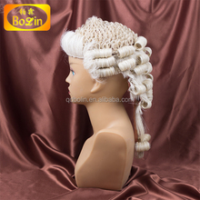 100% hand-made horse hair barrister wig direct buy china