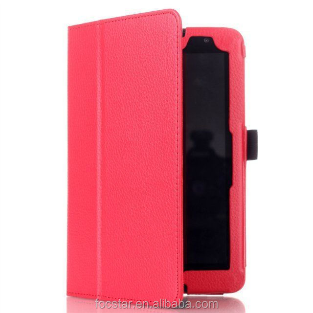 Hot Selling in English Amazon Litchi Skin Pattern Protective Cover Case for Lenovo S8-50