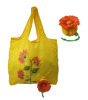 Personalized flower printing promotional foldable shopper bags with different flower pouch