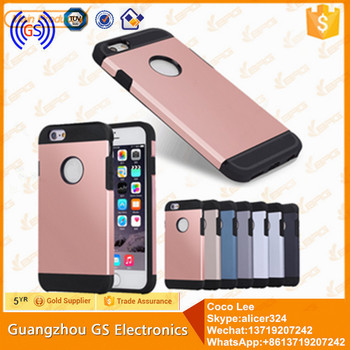 GS Hybrid Case Full Cover PC TPU Case For Iphone 6 Mobile Phone Case For Iphone 6 Wholesale 2016
