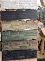 black culture slate cheap artificial cultural stone for wall cladding