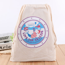 New arrival recyclable cotton drawstring gift pouch bags