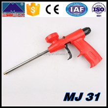 Plastic Toy Blow Foam Gun And Tire Stud Barcode Label Foam Gun.