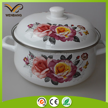 OEM decal printing carbon steel parini cookware with metal cover