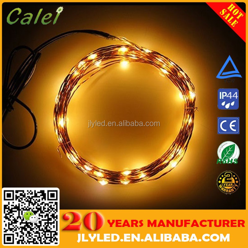 Factory Price Copper Wire Outdoor Led String Christmas Lights With Remote Control And Power Supply