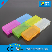 High Quality Plastic boxes 18650 Battery Case for 2pcs 18650 Batteries