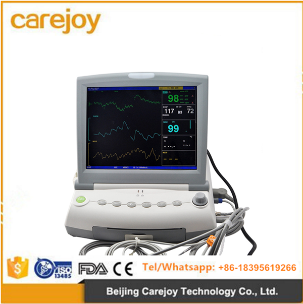 12.1 inch LCD 9 parameter fetal Monitor machine with optional touch screen