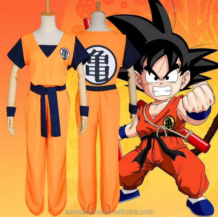 High quality Japanese anime z cosplay Dragon Ball costumes for adults