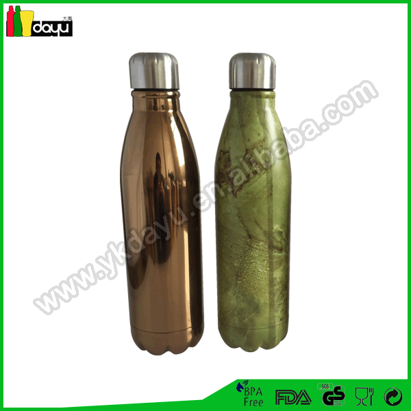 350ml/500ml/750ml/1000ml stainless steel cola can shape vacuum water bottle/coke bottle