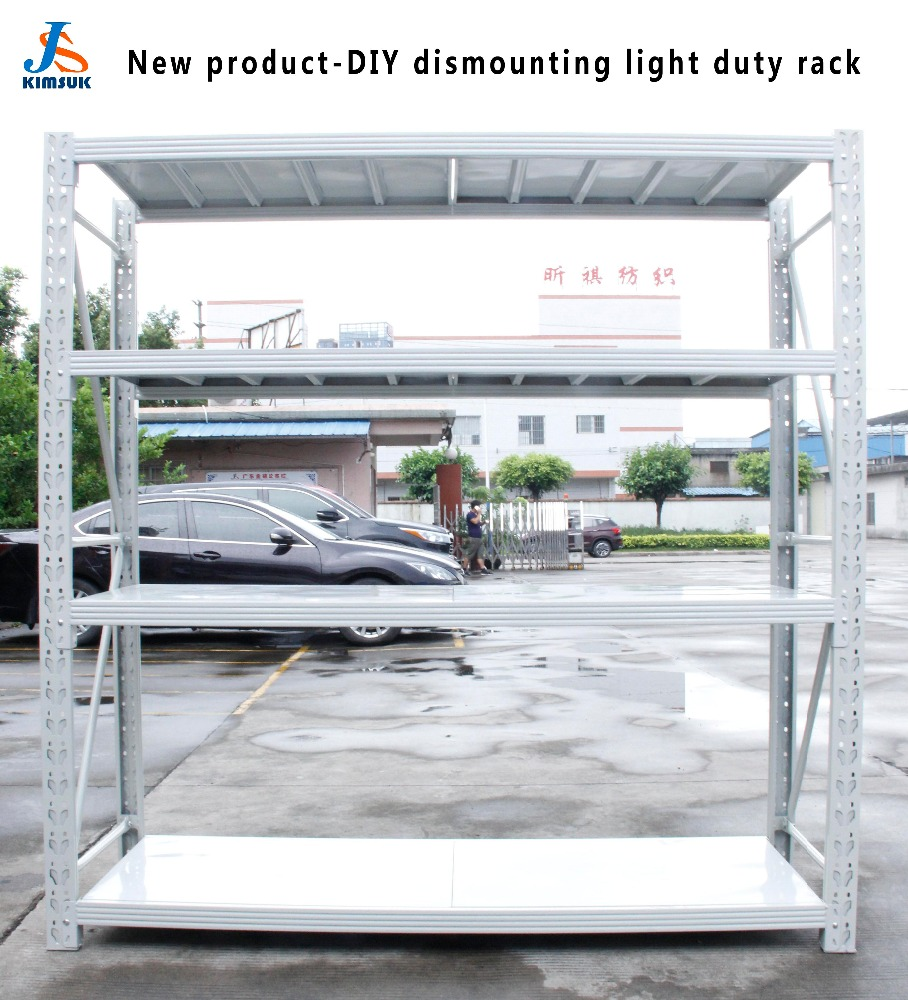 2017 new product DIY dismounting/collapsible light/medium duty rack for supermarket & warehouse storage