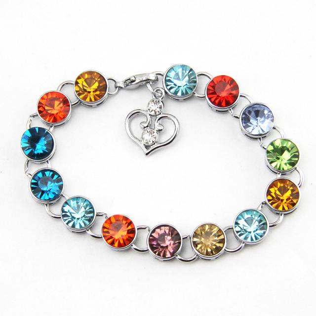 Birthstone crystals bracelet jewelry