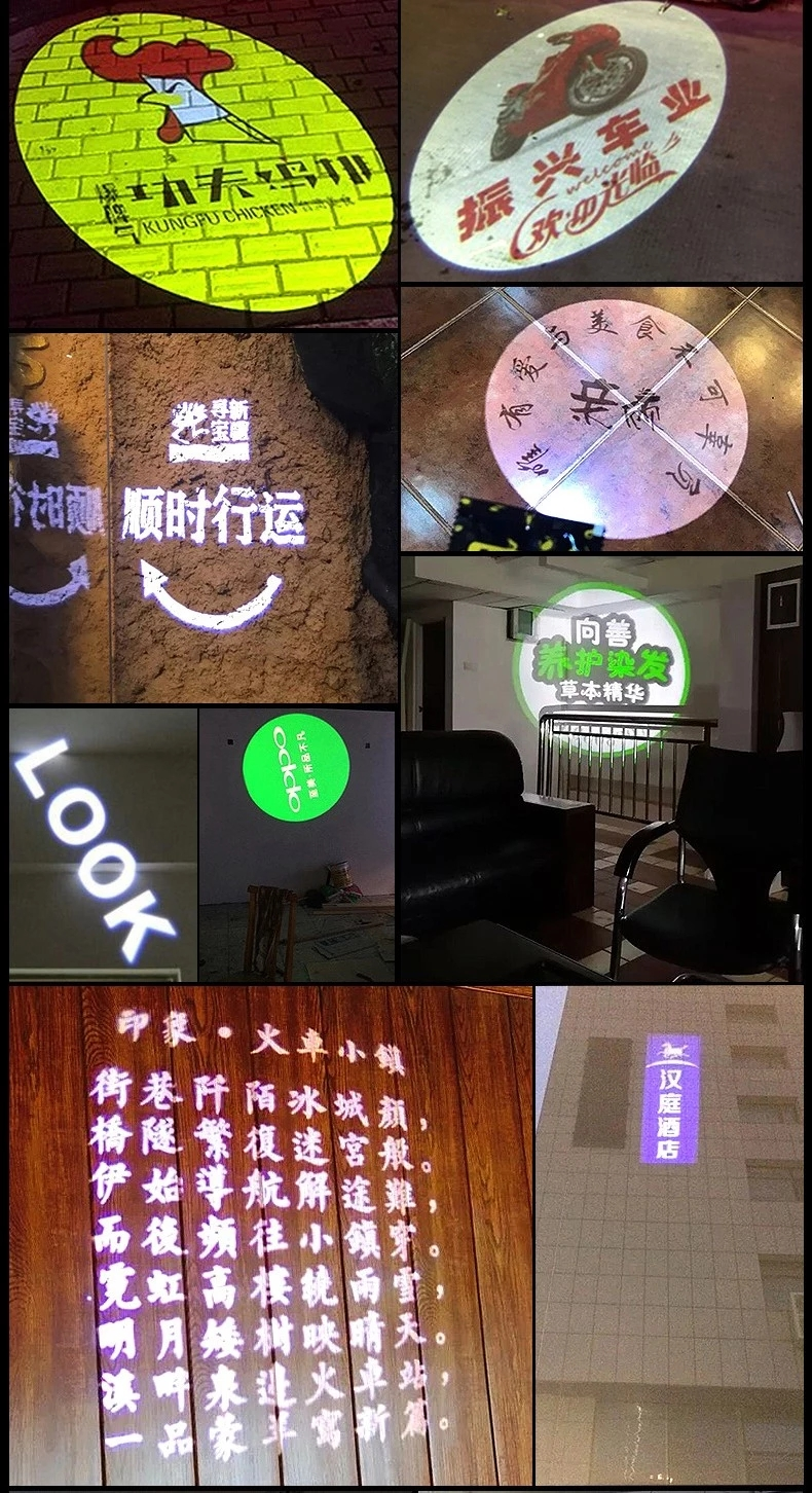 Indoor multifunction light motion sensor logo 35W led gobo projector