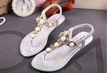 Uniseason Sex Nude Women Silver Sandals Low Heel