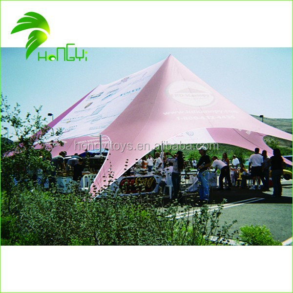 Large Size Double Peaks Star Shaped Outdoor Advertising Tent