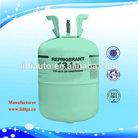 Industrial grade13.6kg/30lbs disposable cylinder 99.99% pure refrigerant gas r134a