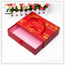 kraft paper box pillow case quality low price red Laser Cut Butterfly paper wedding candy package chocolate favour baby box
