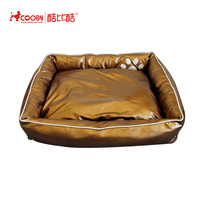 New Pet Products Soft PU leather cheap dog beds for big dogs