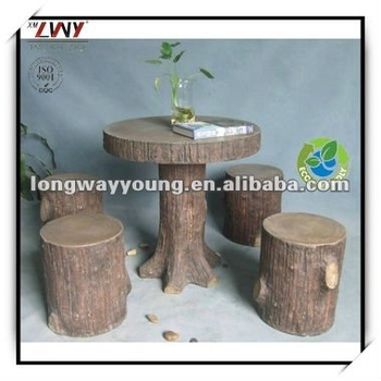 High quality 29 Inches fiberglass round garden table with stools