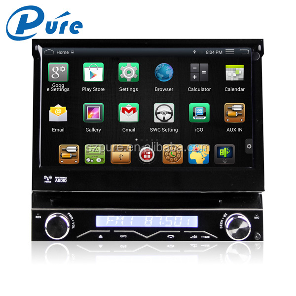 Universal 7 inch 1 din Android4.4.4 OS Quad Core 1.6GHz 1G RAM 16G flash car radio dvd player with gps navigation