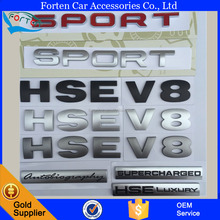 Sport HSE ABS Custom nameplate Car letter Emblem Badge for Discovery