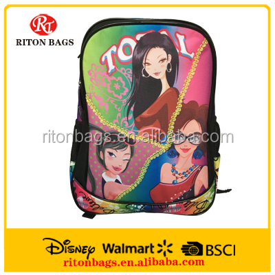 High Quality School Bag Sexy Girls School Bags for Teenagers with Delicate Colors