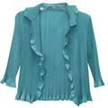 OEM Factory women pleated chiffon long blouses