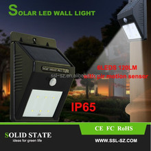 Solid State Pir Sensor Solar Led Light Fixtures Mini Wall Lamp Outdoor