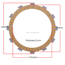R1 2004-2009 years motorcycle paper based clutch disc plate assy material