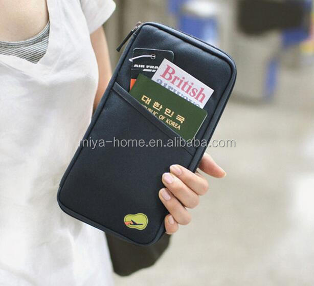 Hot sale Travel organizer wallet/ travel document wallet/ travel ticket wallets