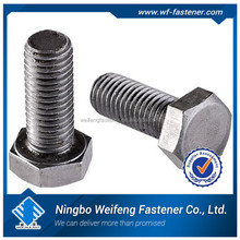 China suppliers galvanized/zinc plated astm a307 hex bolt from alibaba website with lowest price